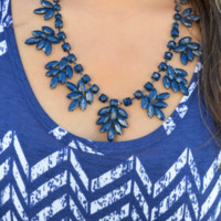 Leaves Of Fall Necklace: Navy Blue | Hope's