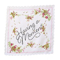 Having a Moment Retro Floral Print Cotton Handkerchief