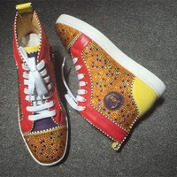 DCCK2 Cl Christian Louboutin Rhinestone Style #1959 Sneakers Fashion Shoes