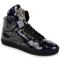 Space Paint Splatter High-Top Trainers by Versace