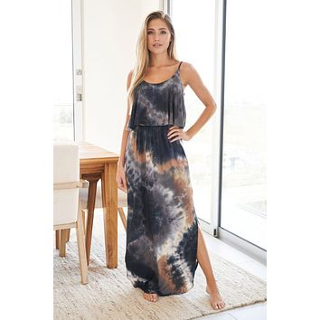 Once You Know Blue Multi Tie Dye Maxi Dress