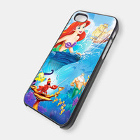 The Little Mermaid Disney Princess iPhone 5 Case, iPhone 4 Case, iPhone 4s Case, iPhone 4 Cover, Hard iPhone 4 Case BDN13