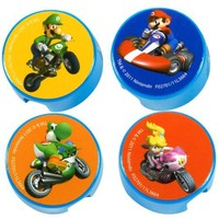 Mario Kart Wii Pencil Sharpeners (4 count) Party Accessory