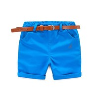 Casual Toddler Boys Short With Free Belt
