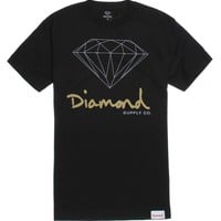 Diamond Supply Co OG Script Logo T-Shirt - Mens Tee - Black