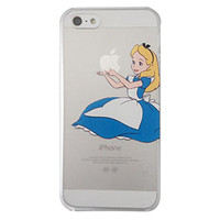 Disney's Alice in Wonderland Holding Logo Clear Transparent Case For Apple Iphone 6/6s