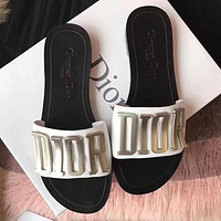 DIOR Holiday Series Alphabet Slippers
