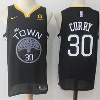 Best Deal Online NBA Basketball Swingman Jerseys Golden State Warriors # 30 Stephen Curry Black