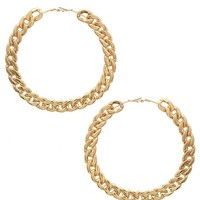 Bold Chain Hoop Earrings