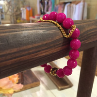 Bead bracelet - pink or yellow