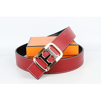 Hermes belt men's and women's casual casual style H letter fashion belt235