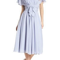 Gal Meets Glam Collection Jane Tie Waist Midi Dress (Nordstrom Exclusive) | Nordstrom