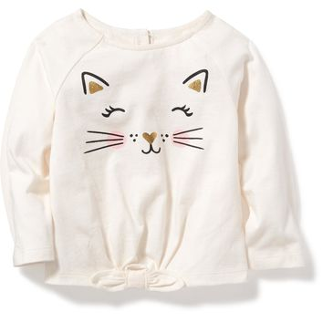 Critter-Graphic Tie-Front Top for Baby | Old Navy