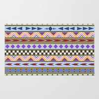 Tribal Pattern Area & Throw Rug by tjc555 | Society6