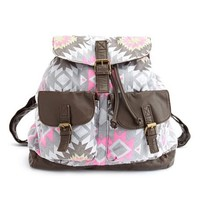 Geometric Canvas Backpack: Charlotte Russe