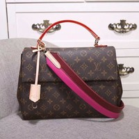 Louis Vuitton Women Fashion Leather Satchel Bag Shoulder Bag Crossbody