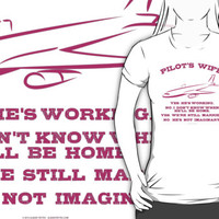 Pilot's Wife Humor by Albany Retro