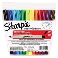 Sharpie® Ultra Fine Point Permanent Markers - 12 Per Set