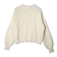 Raw Hem Sweater