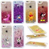 2016 NEW Alice Cheshire Cat Fairy Tale Shining Star Liquid Quicksand Case Cover For iPhone 5 5S 5C 4 4S