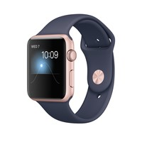 Apple Watch - Rose Gold Aluminum Case with Midnight Blue Sport Band