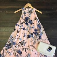 Move On Over Floral Print Dress: Pink