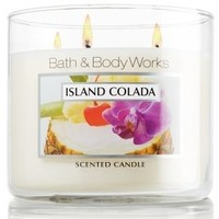 Bath and Body Works Island Colada Scented Candle Jar 14.5 Oz Metal Lid