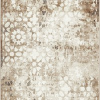 2051 Brown Distressed Contemporary Area Rugs
