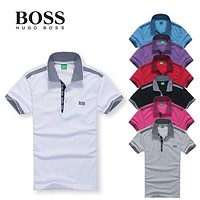 New Hot Sale Hugo BOSS MEN Polo Shirt 100% COTTON TOP