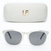 Alexander Wang Metal Curved Sunglasses