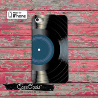 Vinyl Record Blue Label Music Classic Vintage Album iPhone 4 Case and iPhone 5/5s/5c Case and iPhone 6, 6 Plus, 6s, 6s Plus + Wallet Case