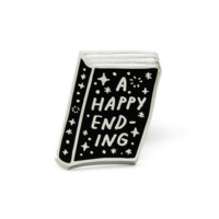 Happy Ending Book Pin