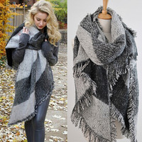 Cashmere Scarf for Women Blanket Scarf with Tassel Shawl Wraps