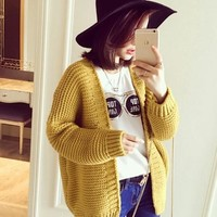 OVERSIZED DOUBLE-KNIT CARDIGAN
