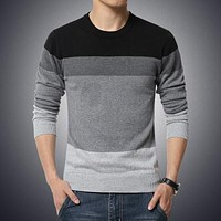 New Men's O-Neck Long Sleeved Shirt