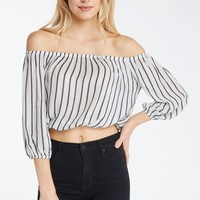 Story Lines Off the Shoulder Top