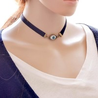 Shiny Stylish New Arrival Jewelry Gift forever21 choker Korean Vintage Velvet Chain Style Lace Necklace [7786547079]