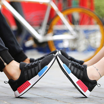 """""""ulzzang"""" Unisex Fashion Casual Harajuku Style Multicolor Stripe Couple Sneakers Running Shoes"""