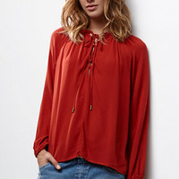 Renamed Lace-Up Long Sleeve Top at PacSun.com