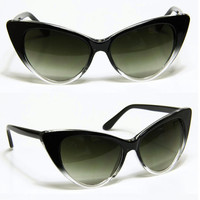 OMBRE Cat Eye Sunglasses- Black and Brown