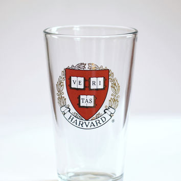 Harvard Crest Pint Glass