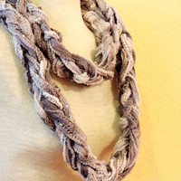 Knitted infinity gray white, hand knitted scarf, loop scarf, knitted scarves, long winter scarf,boho accessories scarf