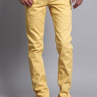 Men's Skinny Fit Colored Jeans (Yellow)