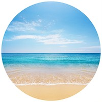 Beautiful Beach Circle Wall Decal