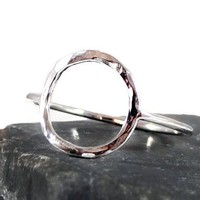 Hammered Sterling Silver Karma Ring