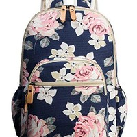 School Bookbags for Girls Floral Backpack College Bags Women Daypack by Leaper