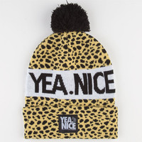 Yea.Nice Pom Beanie Cheetah One Size For Men 22519243601