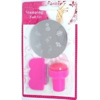 LE Nail Art Nail Stamping Image Plate Set - Plate + Stamper + Scraper for Manicure / Pedicure
