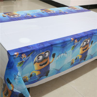 1pcs lot birthday party supplies cartoon despicable me Minions theme party decoration disposable table cloth table cover M035