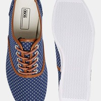 ASOS Plimsolls With Circle Print
